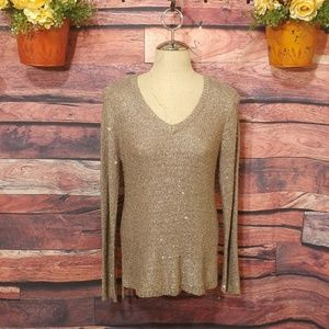 Apt 9 shimmer sequined long sweater size L